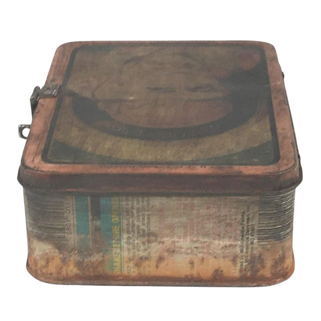 Vintage Indian Decorative Metal Lunch Box For Sale - Image 4 of 6