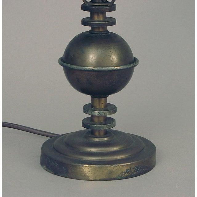 Art Deco Vintage Markel Machine Age Table Lamp For Sale - Image 3 of 4