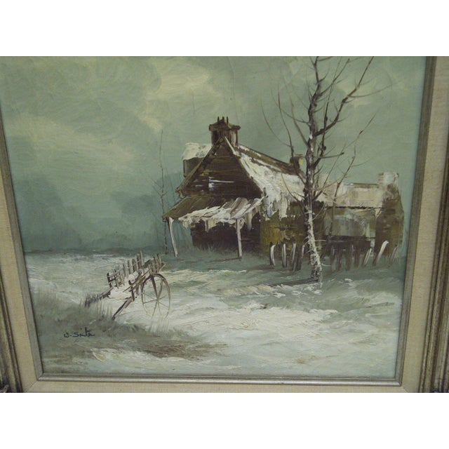 """Frontier Home"" Painting on Canvas - Image 5 of 7"