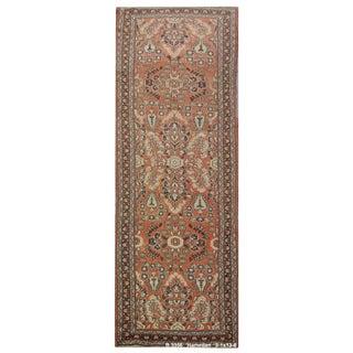 "Vintage Persian Hamedan Runner Rug - 3'1"" x 13'6"" For Sale"