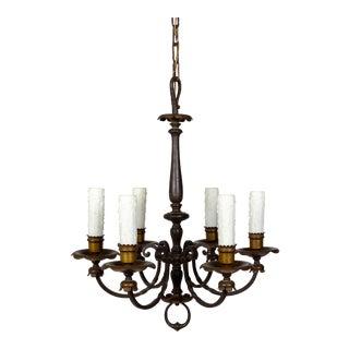 Renaissance Revival Six-Light Candlestick Chandelier For Sale