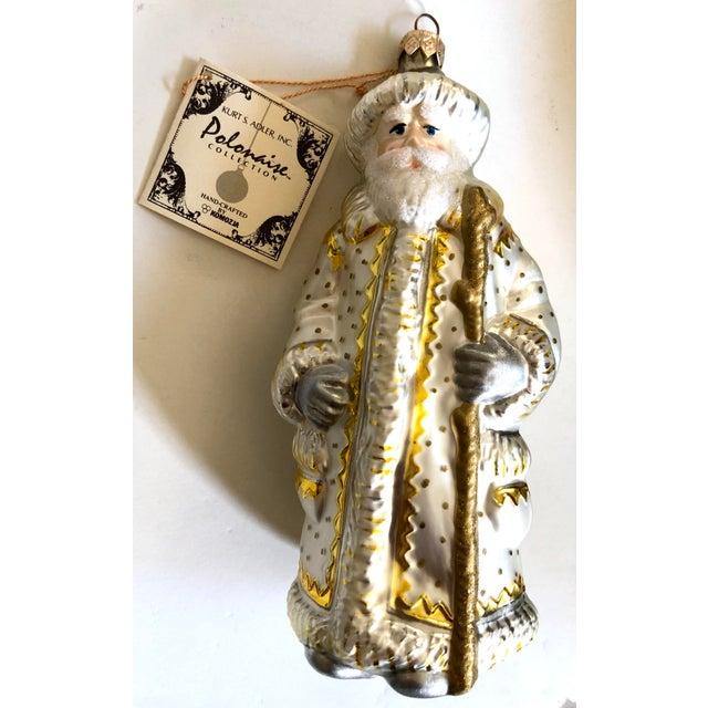 Figurative Polonaise Kurt Adler White Santa Ornament For Sale - Image 3 of 3