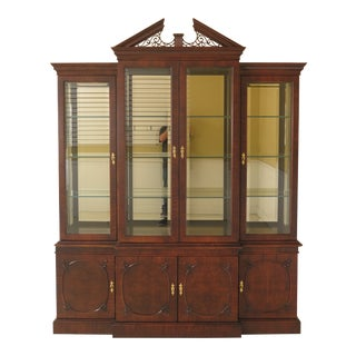Century 4 Door Beveled Glass Breakfront For Sale