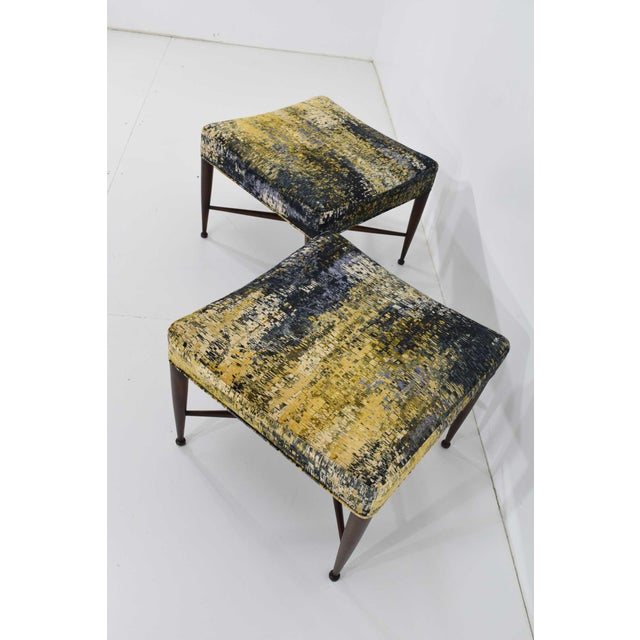 Dunbar X-Base Stools by Edward Wormley For Sale - Image 10 of 13