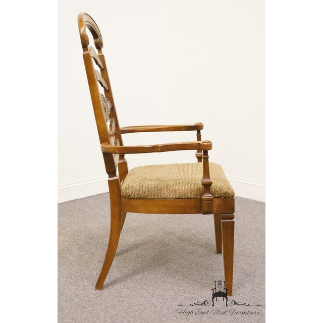 Wood Thomasville Furniture Italian Provincial Tuscan Dining Arm Chair For Sale - Image 7 of 10