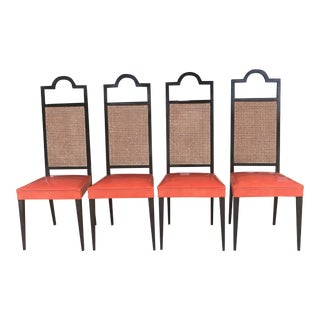 4 High Back Chairs For Sale