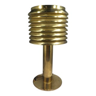 Space Age Mid Century Hans-Agne Jakobsson Brass Table Lamp B-142 For Sale