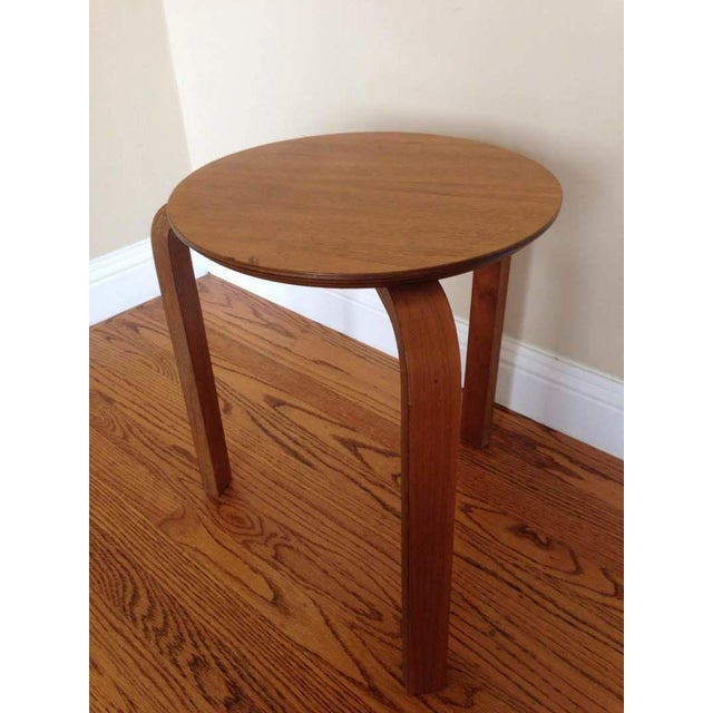 Alvar Aalto Style Tripod Accent Table - Image 3 of 4