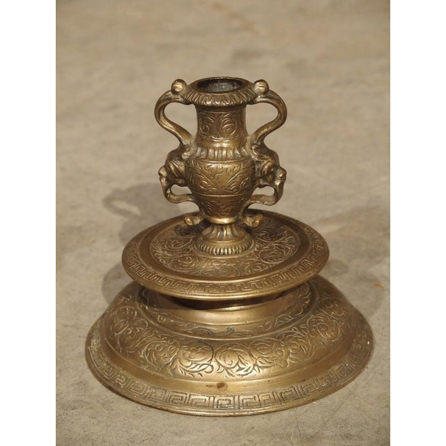 Pair of Antique French Renaissance Style Bronze Candlesticks, 19th Century For Sale - Image 4 of 13