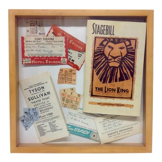 1950s Broadway Memorabilia Shadowbox For Sale