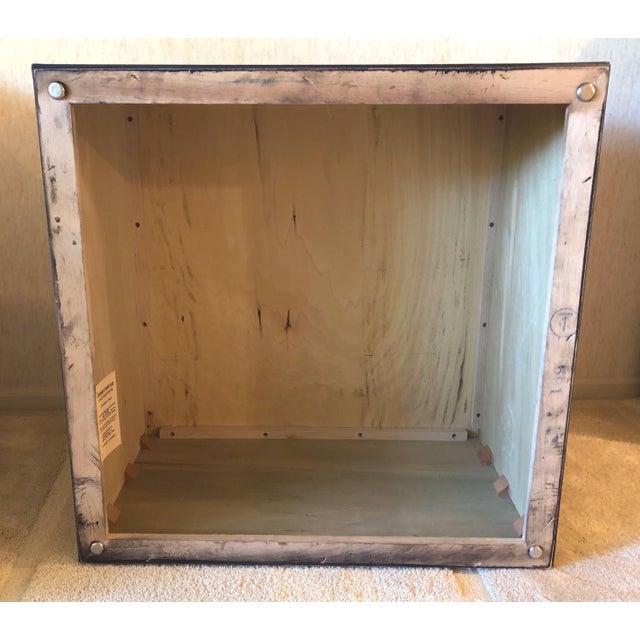 1970s Milo Baughman Burl Wood Large Cube End Table For Sale - Image 12 of 13