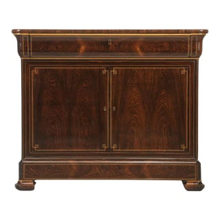 Antique French Rosewood Commode/Buffet With Pull-Out Desk For Sale