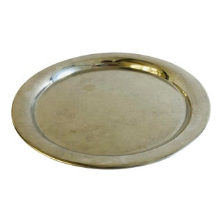 """Cartier Pewter Silverplate Serving Tray 11"""" For Sale"""