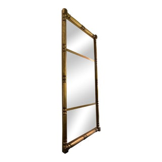 Oversized Vintage Gold Mirror For Sale