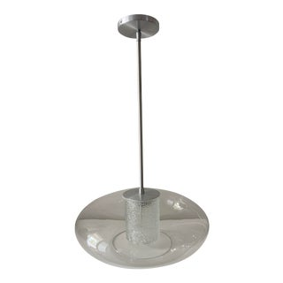 "Quoizel Modern ""Ice"" Hanging Glass Globe Chandelier For Sale"