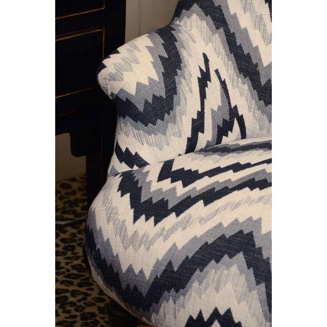 Gray Chevron Napoleon-Style Chair - Image 6 of 8