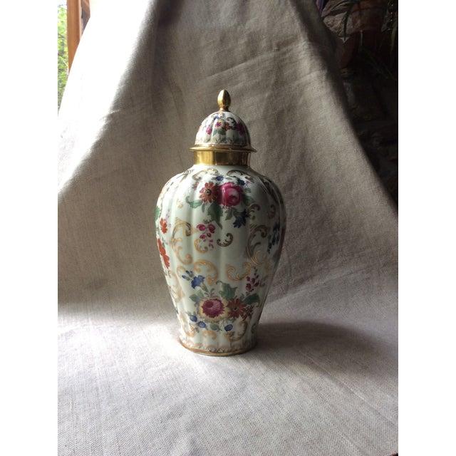1930s Antique Austrian Porcelain Temple Jar For Sale - Image 5 of 13