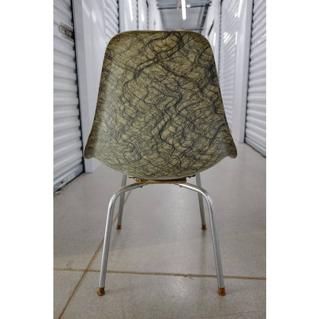 Molded Eames Style Fiberglass Side chair - Image 3 of 3