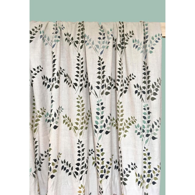 Contemporary Leaves Fabric in Calm, Sample For Sale - Image 3 of 3