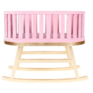 Pink Contemporary Cradle by Royal Stranger For Sale