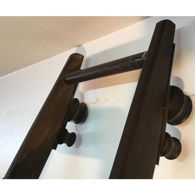 Black 1920s English Traditional Mahogany Library Ladder For Sale - Image 8 of 13