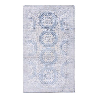 """Antique Indian Agra Cotton Rug 4'0"""" X 6'8"""" For Sale"""