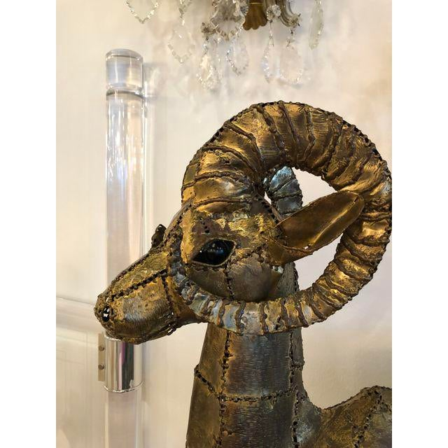 Luciano Bustamante Brass Patchwork Ram For Sale In West Palm - Image 6 of 11