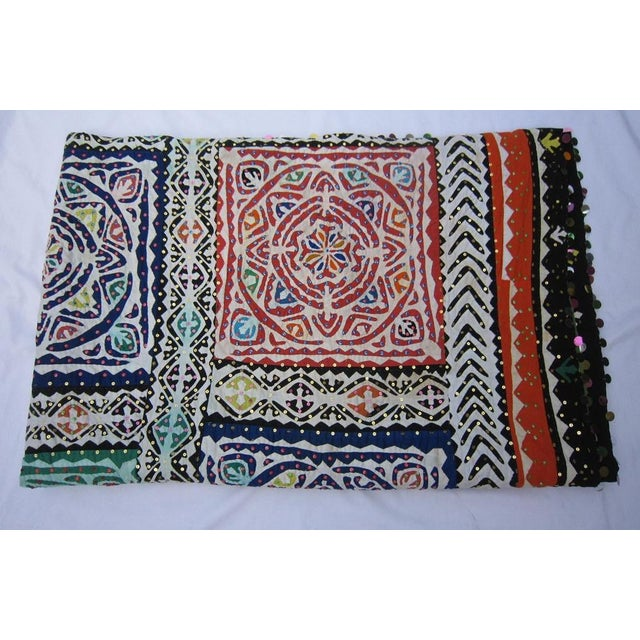 Indian Quilted Blanket For Sale - Image 4 of 5