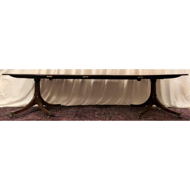 Antique English Mahogany Dining Table With 2 Leaves. For Sale In New Orleans - Image 6 of 6