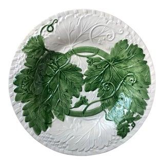 """Bordado Pinheiro Majolica Serving Platter-13"""" For Sale"""