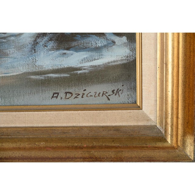 California Shoreline, Oil Painting by A. Dzigurski - Image 8 of 10