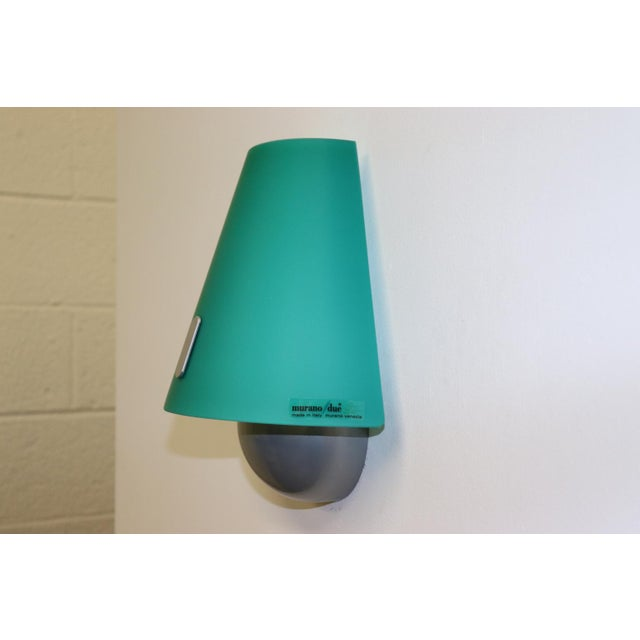 Mid-Century Modern Murano Green Glass Wall Lamp For Sale - Image 9 of 12