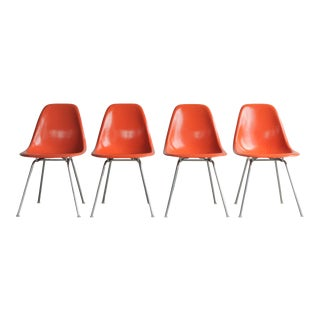 Vintage Mid Century Herman Miller Eames Shell Chairs- Set of 4 For Sale