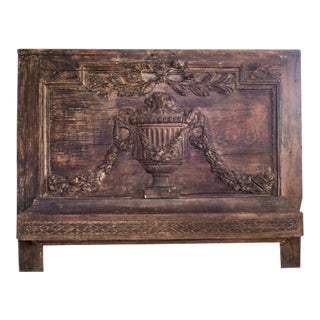 18th Century Antique Carved Wood Boiserie Panel For Sale