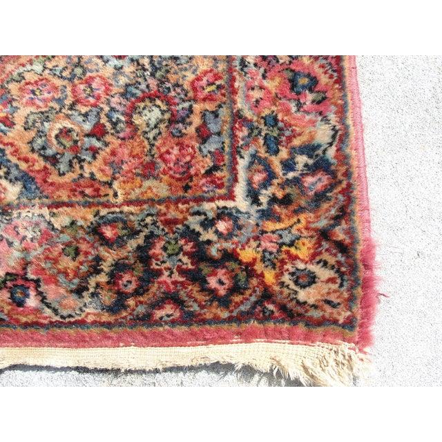 Traditional Vintage Mid-Century Karastan Kirman Wool Area Rug - 2′2″ × 4′ For Sale - Image 3 of 8