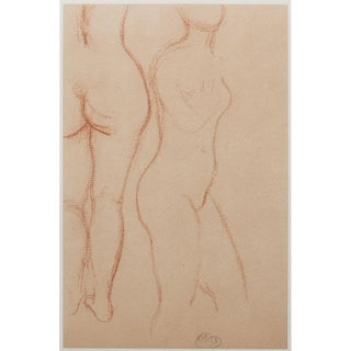 "1950s Lithographic Print ""Studies"" by Aristide Maillol"