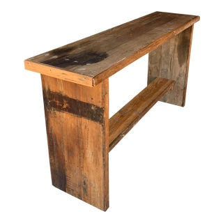 Industrial Custom Made Console Table For Sale
