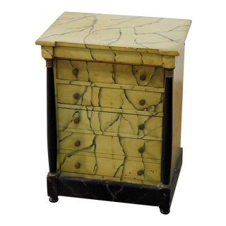 Petite Regency Faux Marble Chest of Drawers For Sale