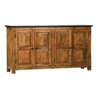 Iron Top Mango Wood Sideboard For Sale