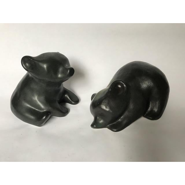 Mid-Century Modern Arabia Finland Pottery Bears - A Pair For Sale - Image 3 of 8