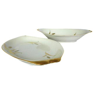 "Mid-Century ""Harvest"" Serving Platters - A Pair For Sale"