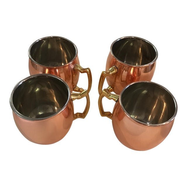 Mini Copper Moscow Mule Mugs - Set of 4 - Image 1 of 7