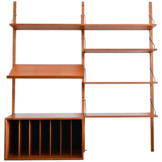 1965 Vintage Poul Cadovius Teak Cado Royal Wall Shelf For Sale