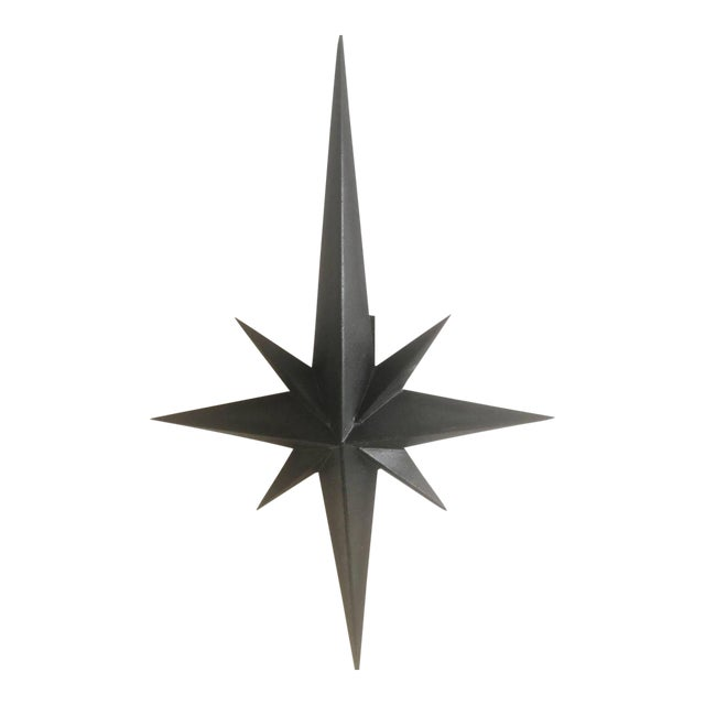 Awesome Pair of Wrought Iron Star Sconces Attributed to Tom Dixon First Period For Sale