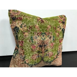 Vintage Turkish Traditional Rug Pillow Preview