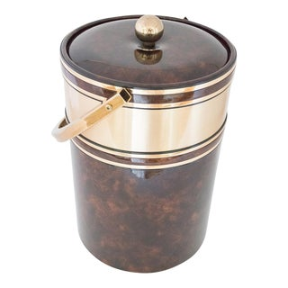 Georges Briard Tortoise Brown & Brass Ice Bucket