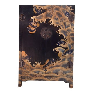Vintage Asian Hand Painted Cabinet