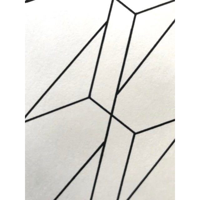 Abstract 1975 Abstract Composition Lithograph by Giorgio Pagliari For Sale - Image 3 of 6
