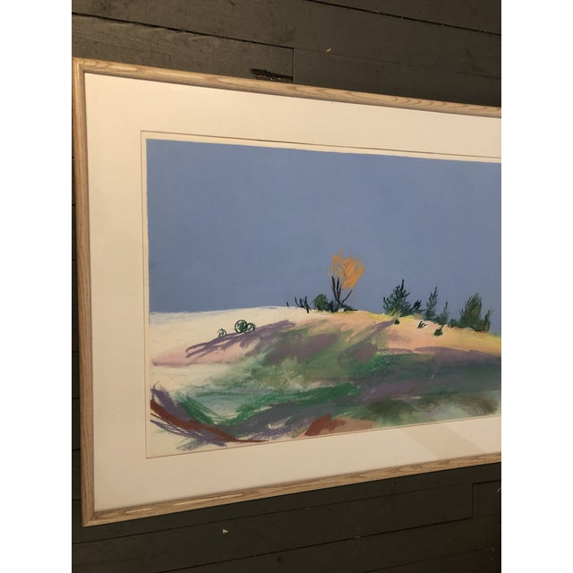 Large Original Vintage Pastel Landscape Drawing Signed For Sale In Philadelphia - Image 6 of 6