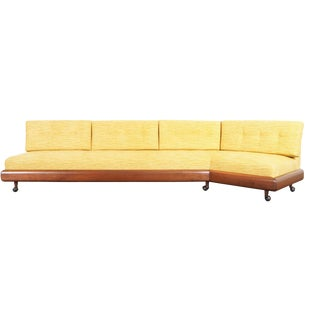 """1960s Vintage Walnut """"Boomerang"""" Sofa by Adrian Pearsall For Sale"""